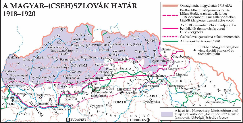 A magyar–(cseh)szlovák határvonal(ak) 1918–1920.