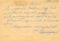első tábori levelezőlap 1.
