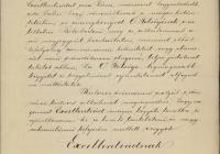 10.Posner Károly Lajos levele Trefort Ágoston miniszterhez az uralkodónak szánt emlékalbum ügyében
