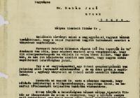 14. Hudec László levele a Tokiói Követség titkárához Petrits ügyében