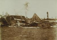 18. Orosz Károly felvétele egy vihar által okozott pusztításról, valahol az olasz fronton