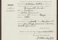 2. Guido Romanelli születési és keresztelési bizonyítványa