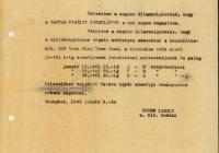 2. Hirdetmény a sanghaji magyar kir. konzulátus megnyitásáról