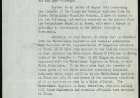 4. A sanghaji svájci főkonzulátus válasza a holland főkonzulátus irattárának keresése ügyében