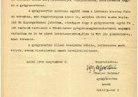 4. Burger Zoltán kérelme gyógyszertára államosítása kapcsán