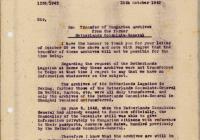 5. A holland főkonzulátus irattárának keresése, válasz a sanghaji svájci főkonzulátusnak