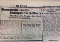 6. Guido Romanelli Budapestre költözik, az Új Világ 1938. október 20-i száma