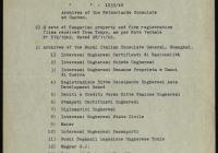 6. Levél és jegyzék az olasz kezelésben lévő irattárak átadásáról