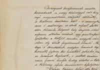 8. Gróf Esterházy Kálmán levele az Országos Kiállítási Bizottság elnökségéhez, amelyben helyet kér a kiállítási területen egy frissítő csarnok számára, valamint megküldi a pavilon terveit