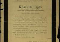 9. A székesfőváros gyászjelentése Kossuth haláláról