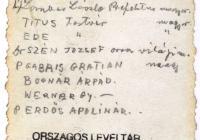Látogatás a paokingi magyar missziónál (1939. augusztus 18–31.). Thun Albin Ottó felvételének hátoldala. (Jelzet: MNL OL K 103-7-Bognár Árpád.)