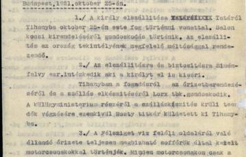 1921: A királydráma utolsó felvonása