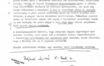 0000: A Heves megyei kormányösszekötő 1956. november 22-ei jelentése