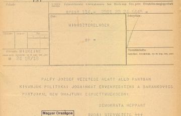 1945: Kísérletek a Keresztény Demokrata Néppárt politikai elismertetésére 1945-ben