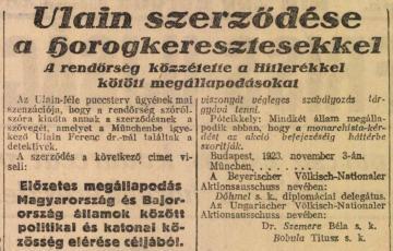 """2020: Egy lehetséges """"magyar sörpuccs"""" gondolata?  Ulain Ferenc nemzetgyűlési képviselőnek és társainak a német szélsőjobboldal segítségével elképzelt államcsínyterve"""